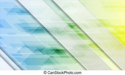 fond, géométrique, résumé, coloré, mouvement, technologie