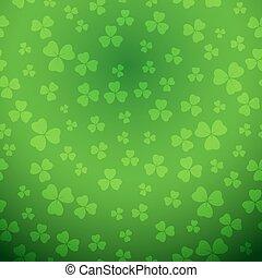 fond, gradient, patrick, clair, vecteur, vert, saint