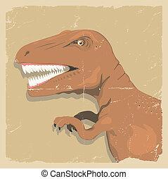 fond, grunge, dinosaure