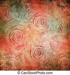 fond, grunge, roses