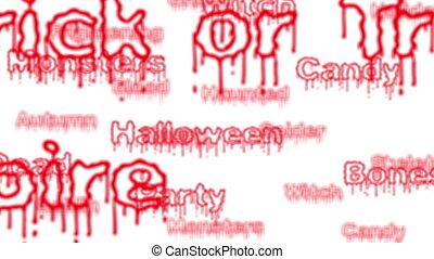 fond, halloween, boucle, mots