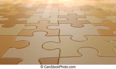 fond, hd, profondeur, champ, seamless, 3d, ultra, animation, en mouvement, puzzle, faire boucle, 4k, puzzle