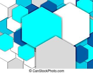 fond, hexagones, résumé