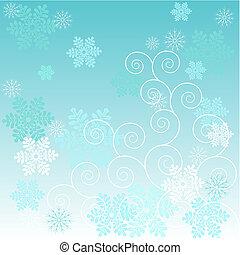 fond, hiver