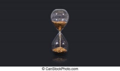 fond, horloge, sable, balck