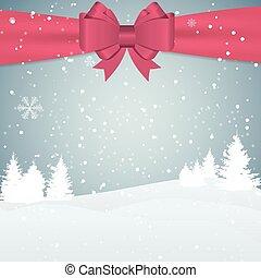 fond, illustration, noël, vecteur, flocons neige