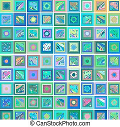 fond, image, géométrique, rectangles, résumé