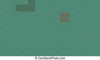 fond, infini, zoom, carrés, résumé, vert, vidéo