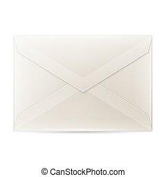fond, isolé, enveloppe, vide, blanc