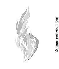 fond, isolated., vapeur, illustration, vecteur, fumée, blanc