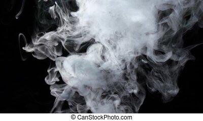 fond, jet, fond, ruisseaux, fumée, noir, blanc, intense