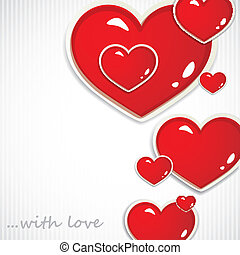 fond, jour, petite amie, cœurs