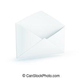 fond, lettre, blanc