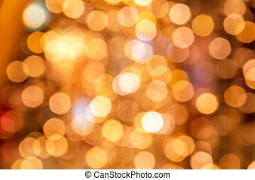 fond, lumières, noël