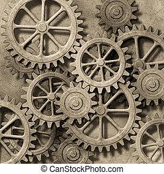 fond, mécanique