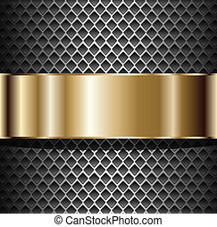 fond, métallique