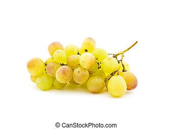 fond, mûre, groupe, raisins, blanc, muscat
