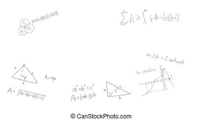 fond, manuscrit, blanc, mathématique, formulae