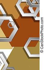 fond, milieu, composition., illustration, résumé, âges, couleur, hexagone, vecteur, géométrique