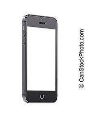 fond, mobile, écran, haut, téléphone, noir, vide, intelligent, vue