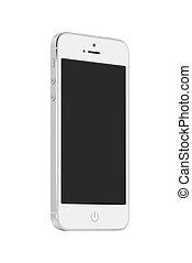 fond, mobile, écran, haut, téléphone, vide, blanc, intelligent, vue