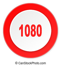 fond, moderne, icône, 1080, cercle, conception, plat, rouges, 3d, blanc