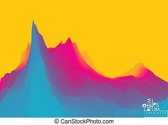 fond, montagneux, terrain., ou, livre, illustration.,...