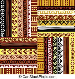 fond, motifs, ethnique