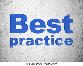 fond, mur, pratique, mieux, apprentissage, concept: