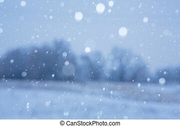 fond, neigeux