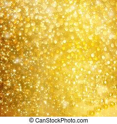 fond, neigeux, résumé, amusement, étoiles, confetti, flocons...