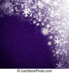 fond, noël, neige