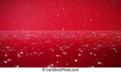 fond, noël, rouges, neige