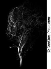 fond, noir, isolé, fumée