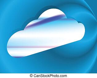 fond, nuage