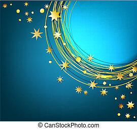 fond, or, étoiles