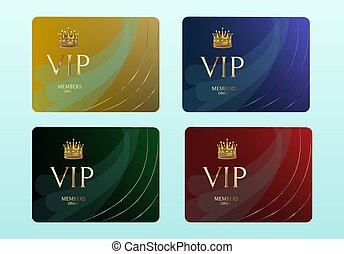 fond, or, rouges, éclat, luxe, invitation., card., members., vert, ensemble, bleu, luxury., cartes., vectors, vip, gold., conception, lettrage