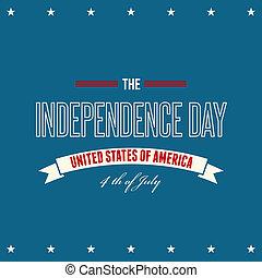 fond, patriotique, jour indépendance, américain