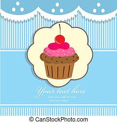 fond, petit gâteau