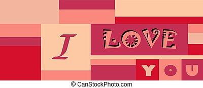fond, pink., love., valentin, day., s, vector.