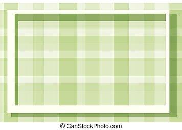 fond, plaqué, cadre, vert