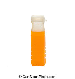 fond, plastique, jus, bouteille, orange, blanc