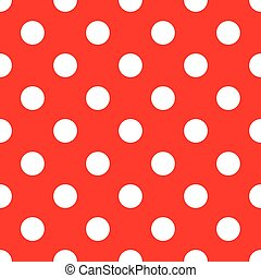 fond, polka, seamless, point, rouges