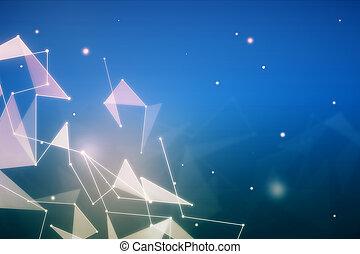 fond, polygonal