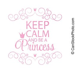 fond, princesse, vecteur, illustration., couronne