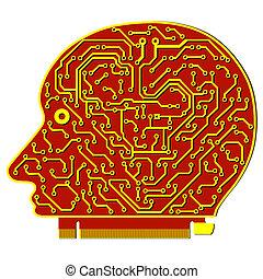 fond, résumé, élevé, vecteur, technologie, planche, circuit