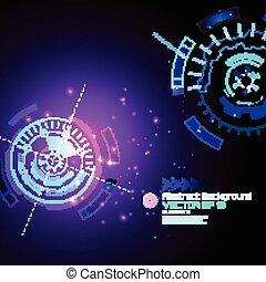 fond, résumé, -, élevé, vecteur, technologie, techno, conception, futuriste