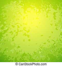 fond, résumé, vert, centre, clair