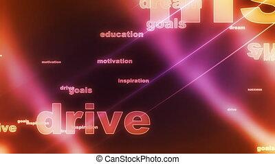 fond, rêve, buts, boucle, conduire