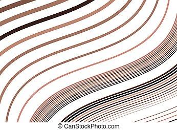 fond, raies, conception modèle, brun, ondulant, lignes, résumé, element., couché, travers, coloré, diagonal, inclinaison, houleux, texture, onduler, ondulé, olbique